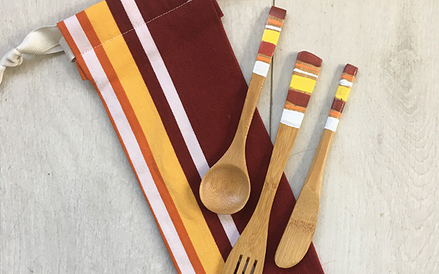 hand painted bamboo spoons