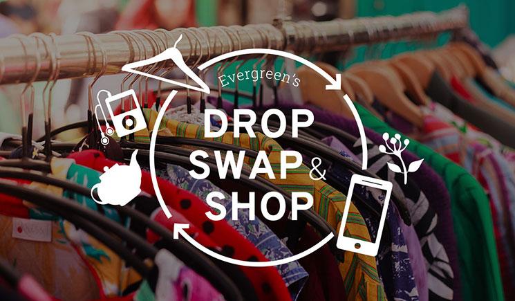 Drop, Swap & Shop banner.