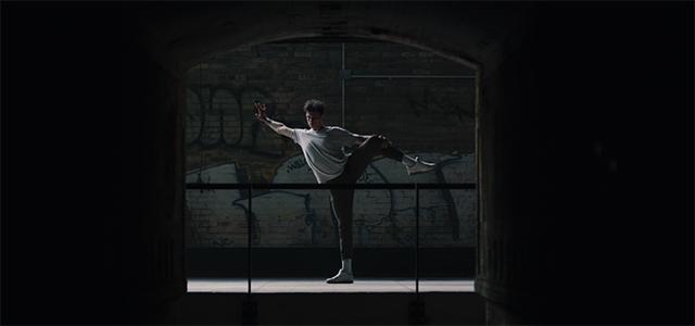 Dancer National Ballet Canada inside Evergreen Brick Works historic kin