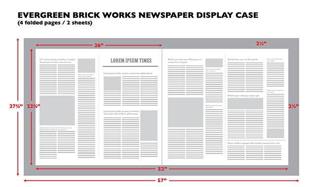 newspaper sketch - evergreen brick works newspaper display case