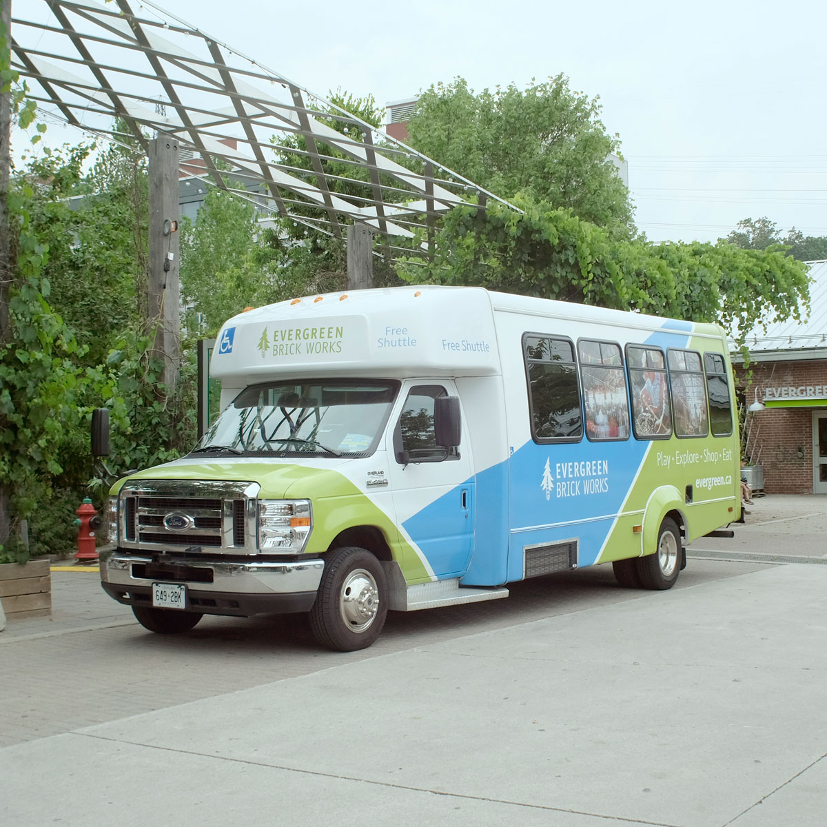 Evergreen Brick Works Shuttle Bus