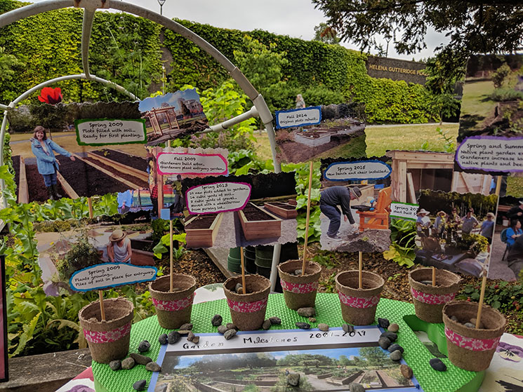 Display at the 10th anniversary celebration of Vancouver City Hall Community Garden