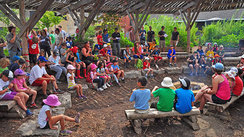Campers at Evergreen Adventure Camp (Photo Credit: Lyle Sadavoy)