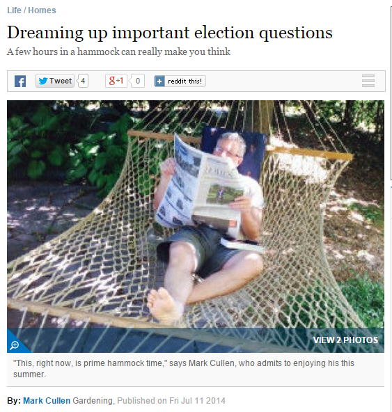Dreaming up important election questions - excerpt from Toronto star article