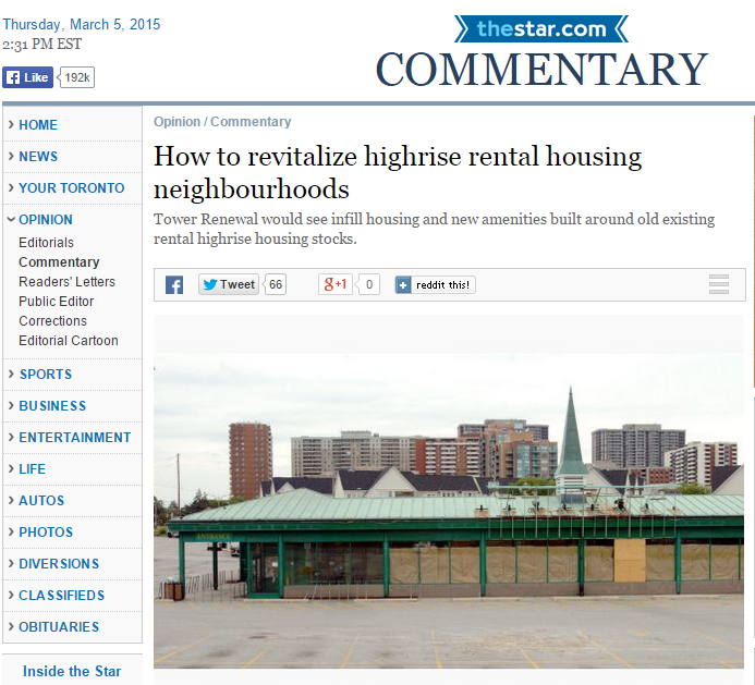 Screen shot of article - photo contains old highrise building