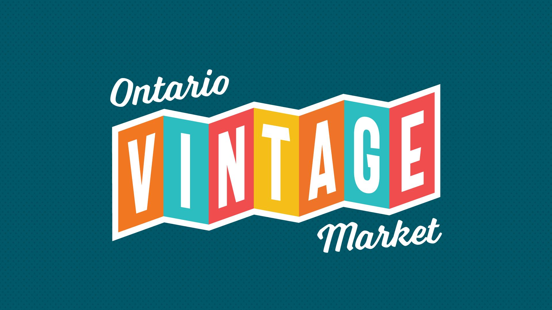 Ontario Vintage Market logo.