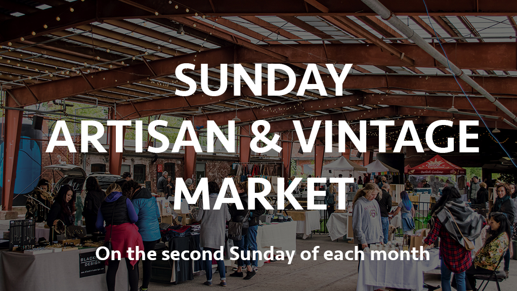 Sunday Artisan & Vintage Market on the second Sunday of each month