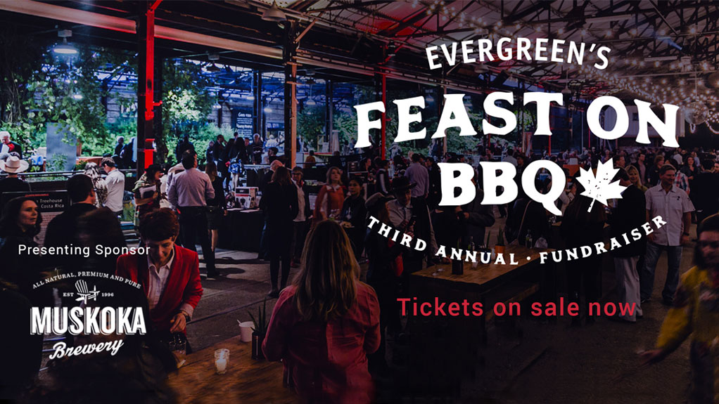 Evergreen's Feast On BBQ Third Annual Fundraiser. Saturday October 14. Tickets on sale now.