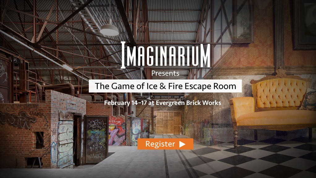 Imaginarium presents the Gamr of Ice at Fire at Evergreen Brick Works. Feb 14-17