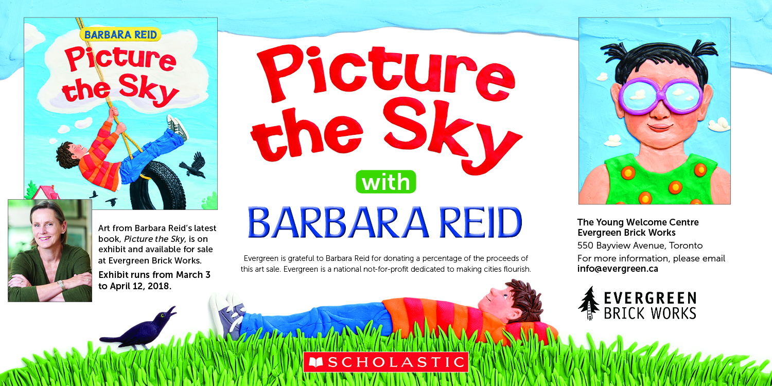 Picture the Sky by Barbara Reid - art exhibit on display at Evergreen Brick Works until April 12.