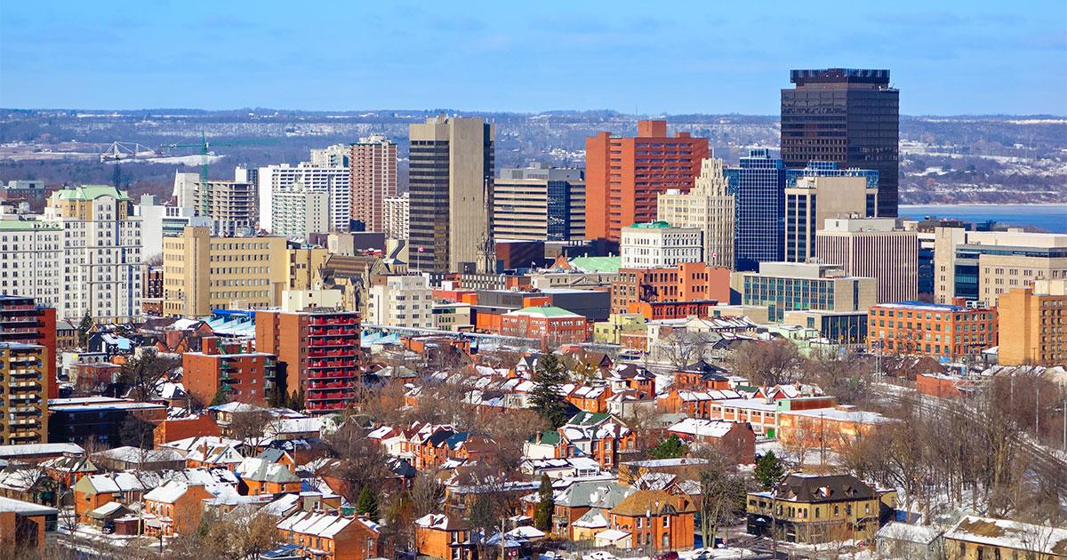 Hamilton skyline.