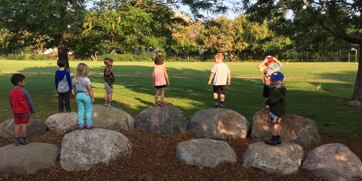 Evergreen 5 ways to invest in school grounds that improves outdoor play and learning kids on rocks