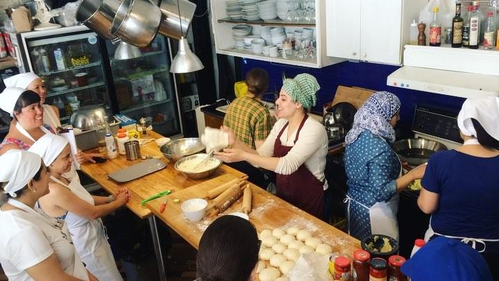 Cooking workshop at Newcomer Kitchen.