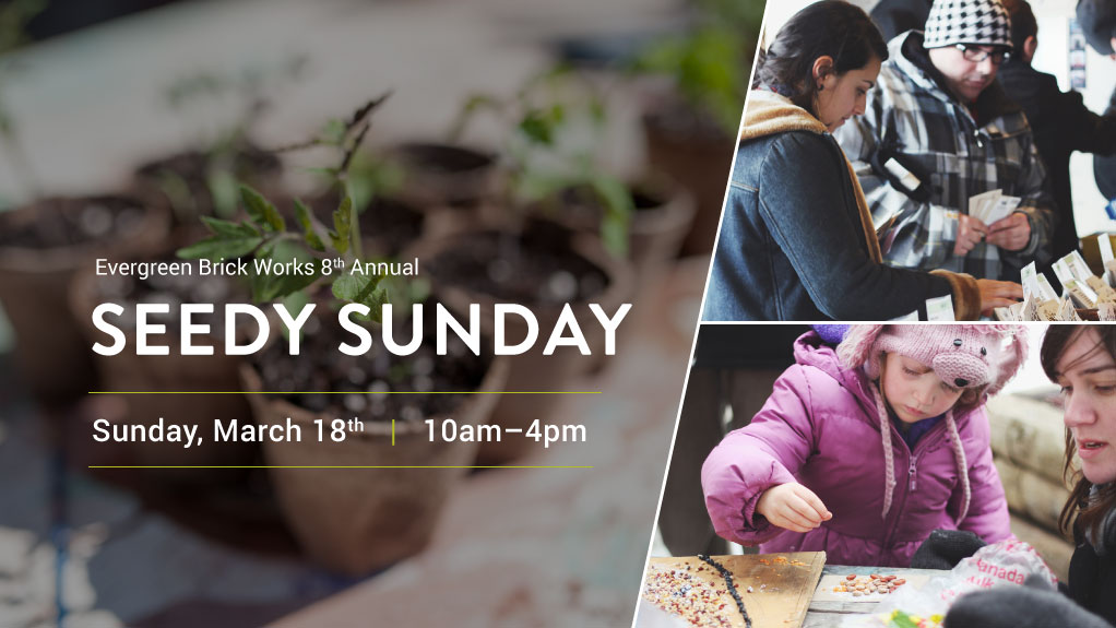 Evergreen Brick Works' 8th Annual Seedy Sunday on March 18 at Evergreen Brick Works.