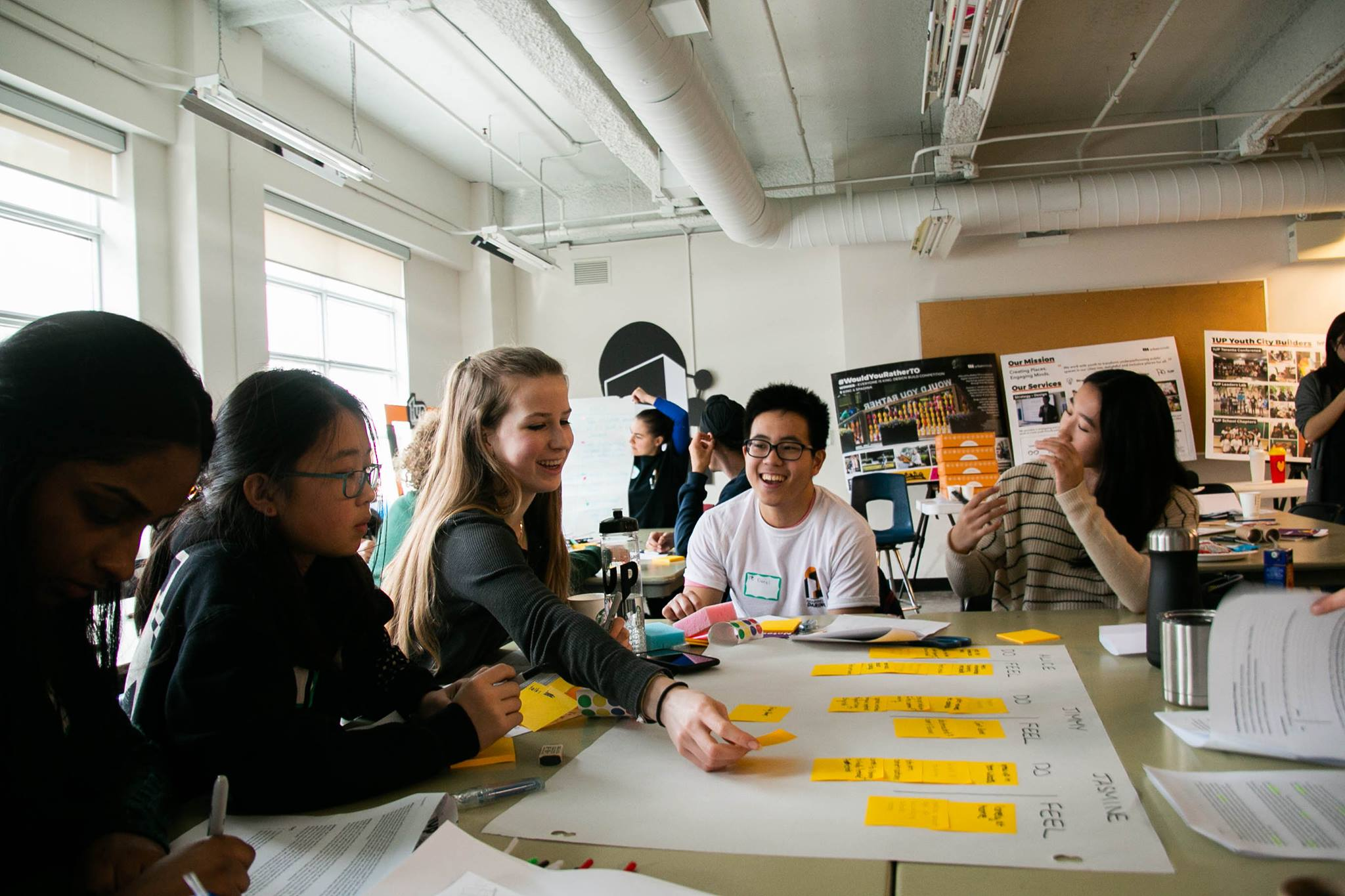Students participate in the design jam. Image: Urban Minds