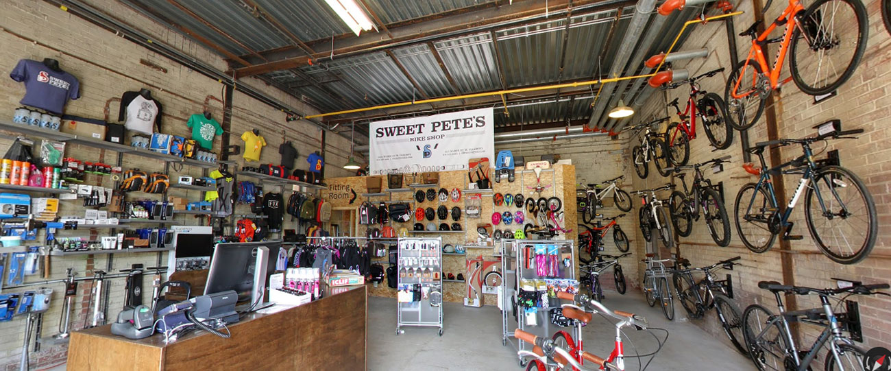 Sweet Pete's bike shop interior