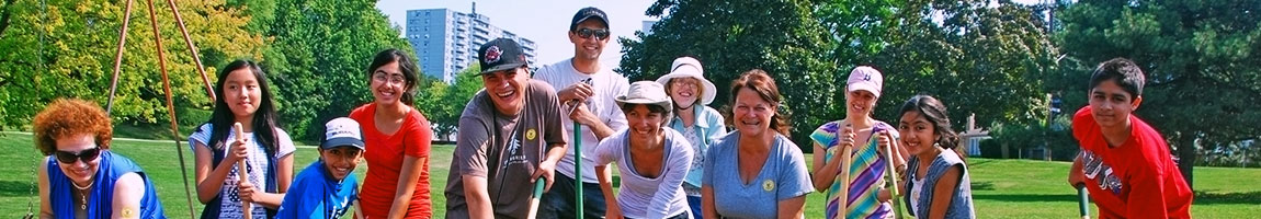 Volunteers at a planting event.