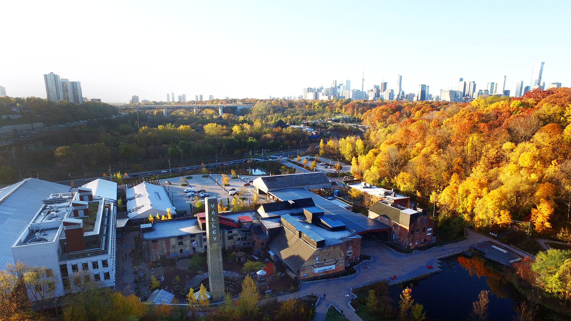 Evergreen Brick Works photo from above.