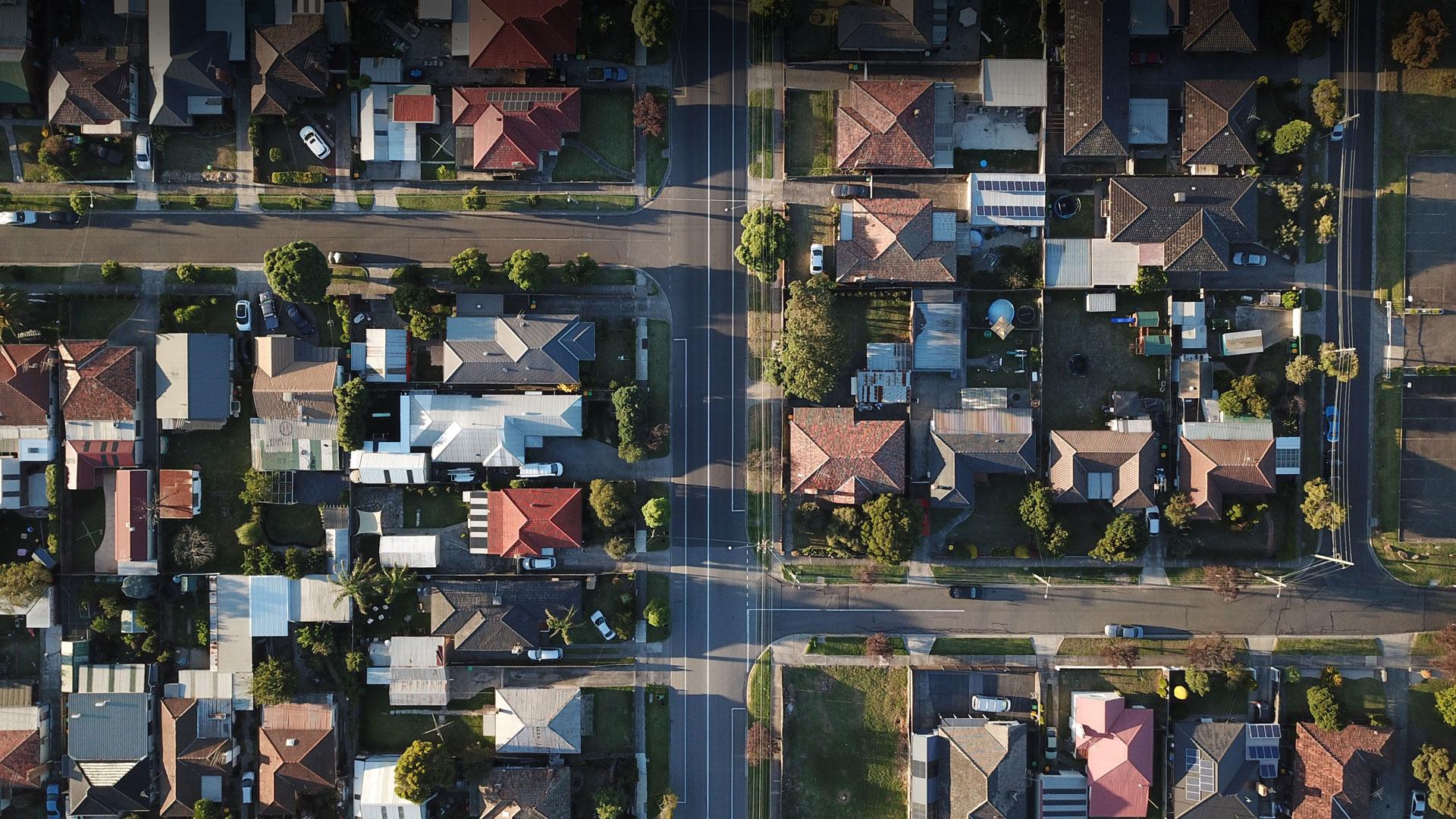 A bird-eye view of housing.