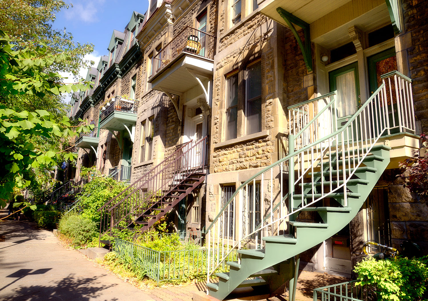 A row of houses in Montreal.