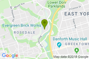 Google Map of Evergreen Brick Works, Toronto ON