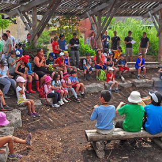 Campers at Evergreen Adventure Camp Image: Lyle Sadavoy