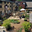 Overhead shot of the Children's Garden at Evergreen Brick Works Image: Tom Ferguson