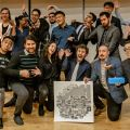 Winners of the Hamilton 2019 Future City Builders Urban Action Pitch-Off. Image: Andrew Parrins