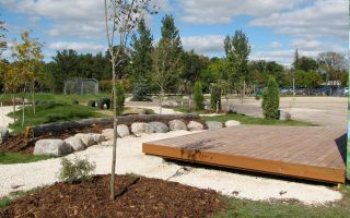 A completed schoolyard after it has been redesigned.