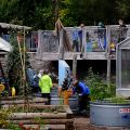 Children play in the newly revitalized Children's Garden at Evergreen Brick Works. Image: Layah Glassman