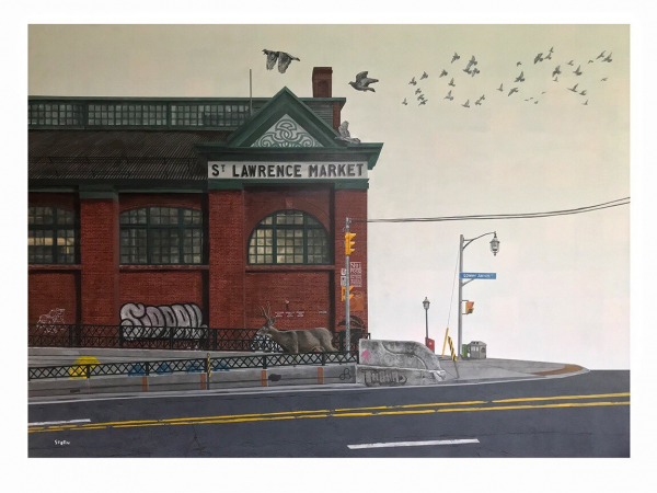 Painting of St. Lawrence Market by Brandon Steen. Image: Brandon Steen