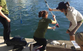 Waterkeepers collecting water samples in Toronto Harbour/Courtesy Lake Ontario Waterkeeper