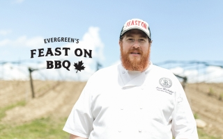 Laird MacArthur from Cafe Belong is one of the chefs who will be cooking up a storm in October for Evergreen's Feast On BBQ.