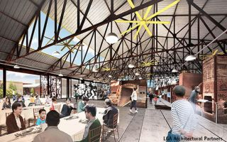 A rendering of the redeveloped kiln building in use. Image: LGA Architectural Partners
