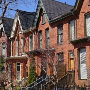 A row of housing in Toronto, ON