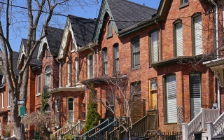 A housing row in Toronto.