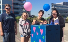 Youth in Vancouver hosted a 'give a compliment, get a compliment' booth as part of Youth Action Series