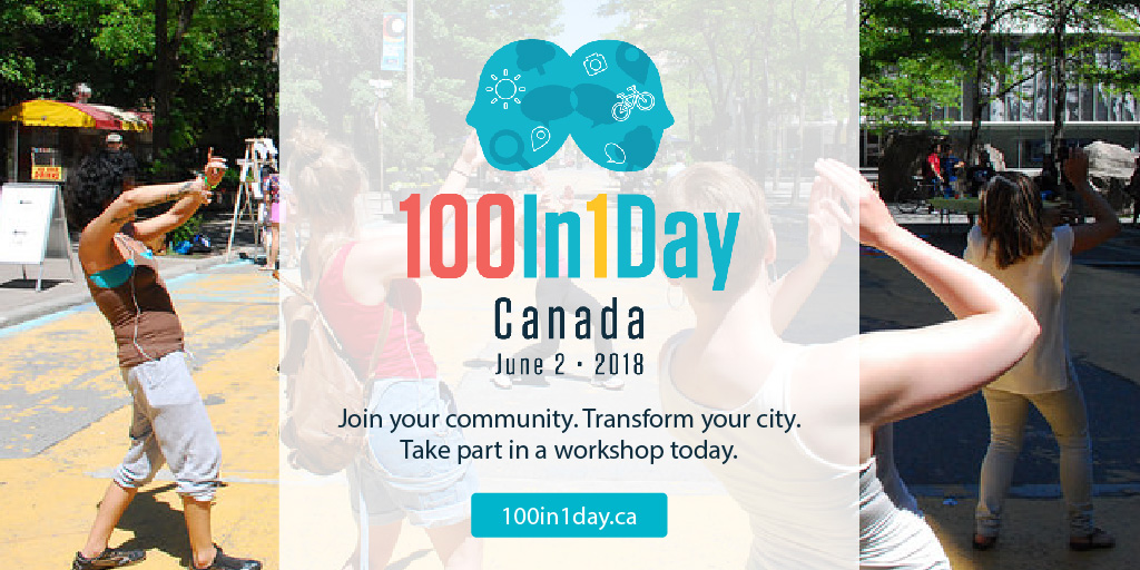 100In1Day Canada promotion for workshops.