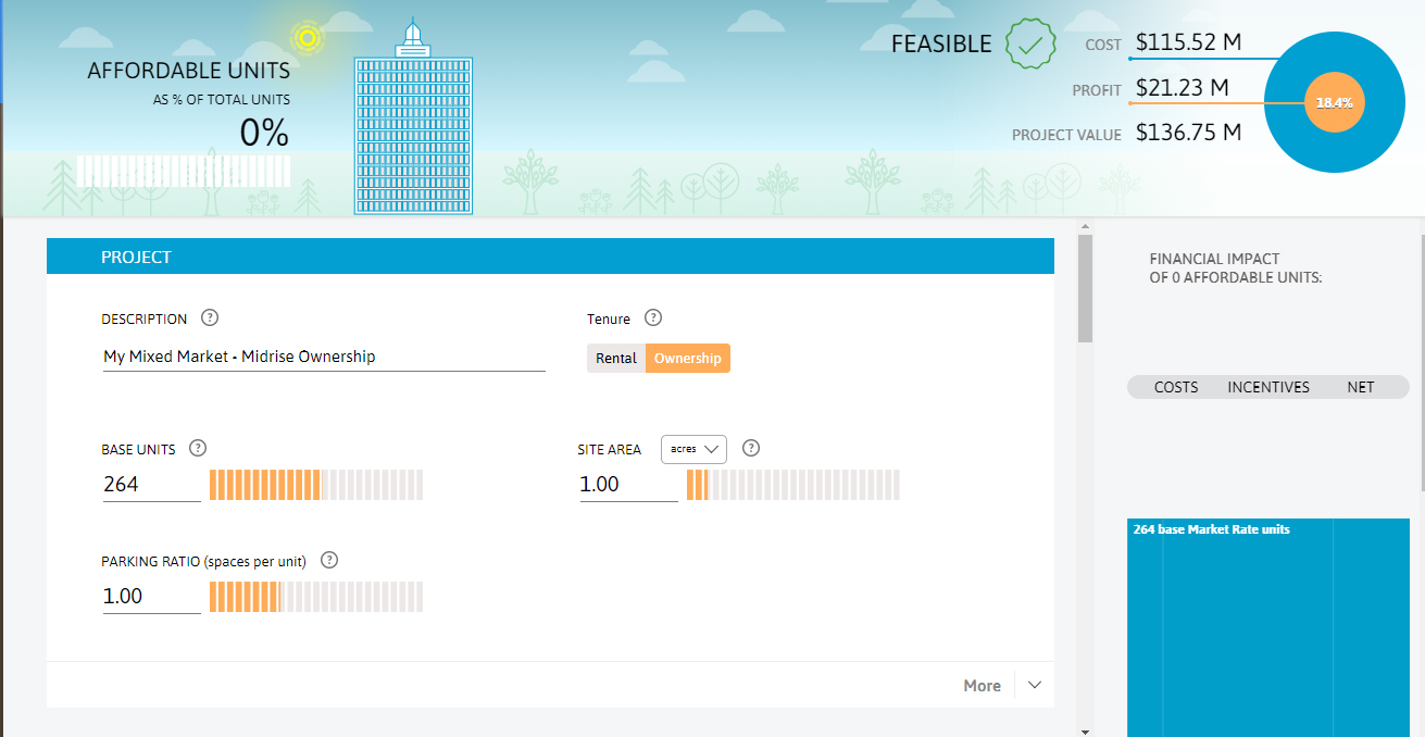 A screenshot showing the Ontario Affordable Housing Calculator.