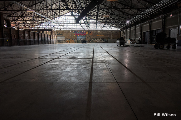 A new concrete floor was just the start of the kiln building's revolutionary redevelopment.