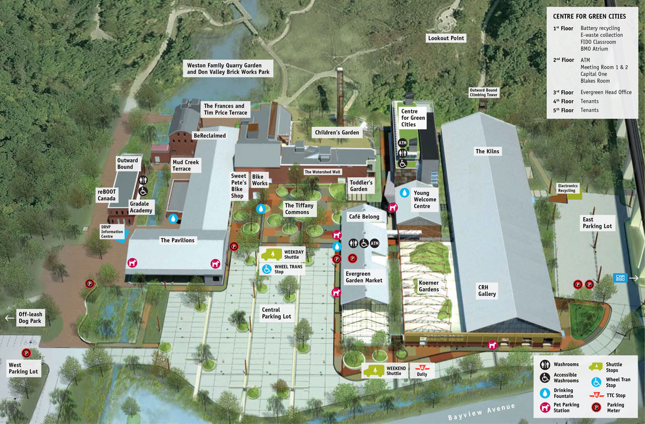 Map of Evergreen Brick Works