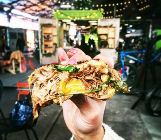 Duck confit grilled cheese.