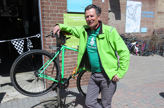 John Klingenberg is an Active Living volunteer at Evergreen Brick Works.