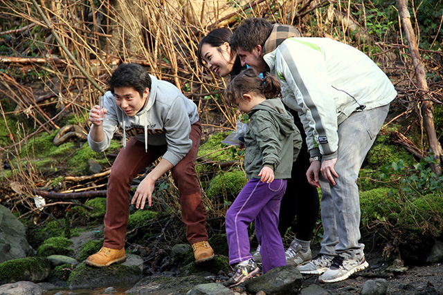 Volunteers conduct water sampling in Vancouver.