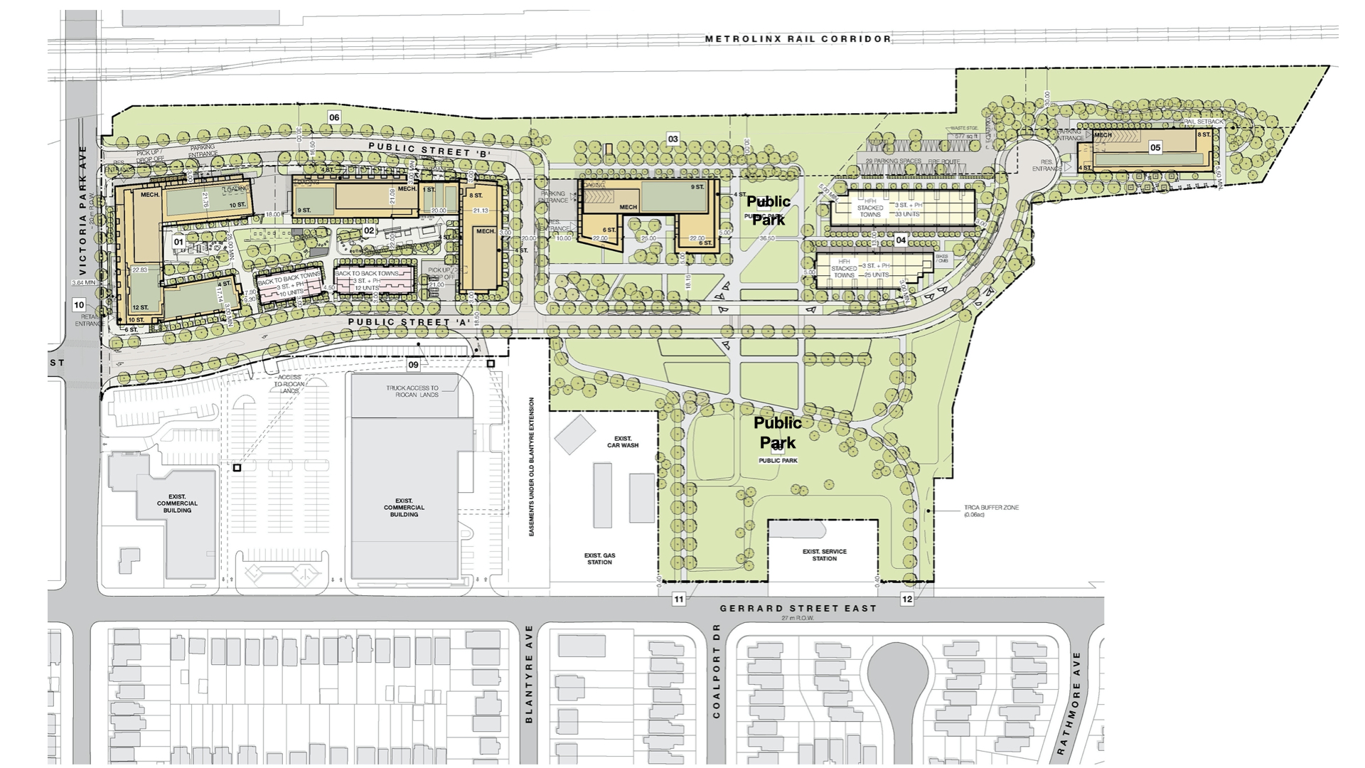 A map of the proposed plan for the school grounds