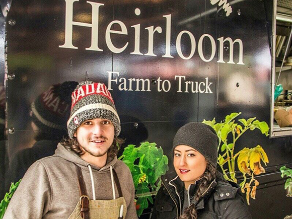 Steffen Marin and Ami Dipasquale from Heirloom Food Truck.