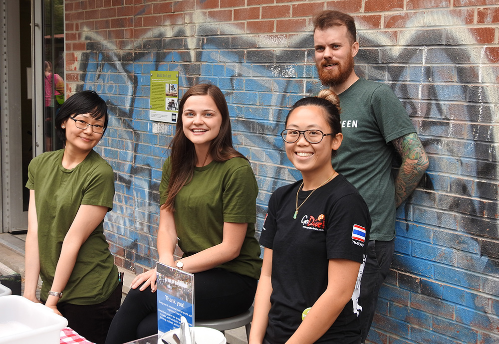 Volunteers at Summer Wednesdays at Evergreen Brick Works.