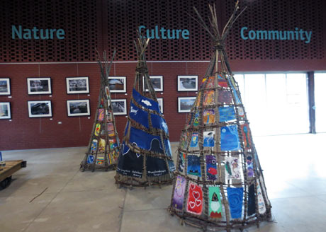 Community-designed tipis from the Tipi Tapestry Project at EBW. Photo: Pamela Schuller.