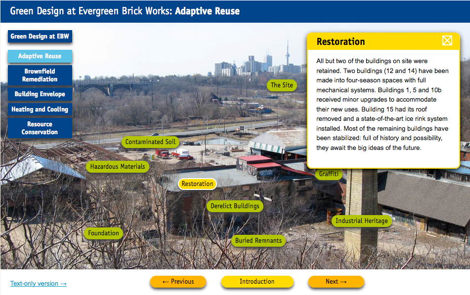 Screen shot of Adaptive Reuse features