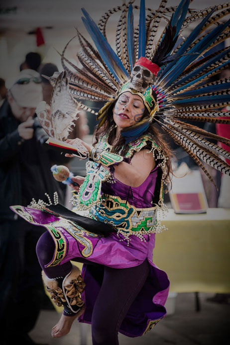 A dancer at Day of the Dead 2014.
